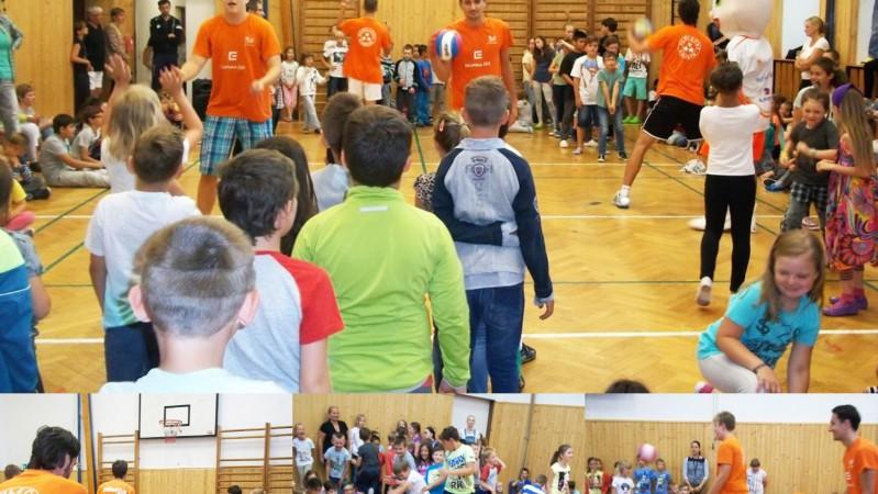 Málek, Široký a Hudeček rozdávali volejbalovou radost na ZŠ Truhlářská
