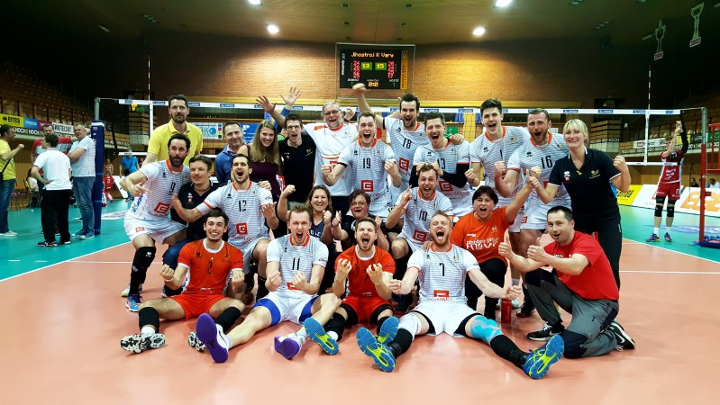 Volejbalové Karlovarsko si zahraje o svůj první titul, vyřadilo obhájce