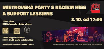 MISTROVSKÁ PÁRTY s radiem KISS a Support Lesbians
