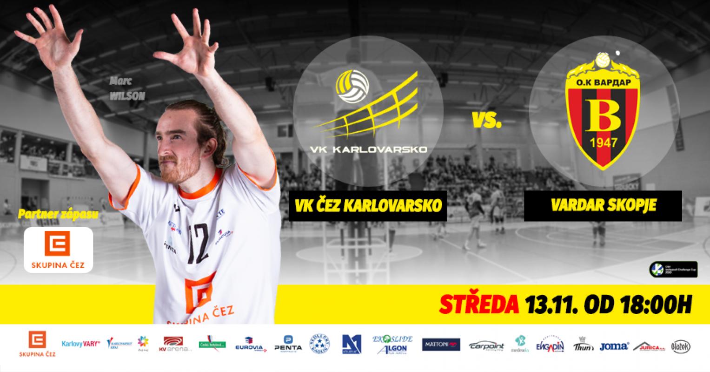 Evropský pohár: VK ČEZ Karlovarsko - Vardar Skopje