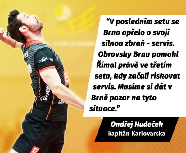 Kapitán Ondřej Hudeček k prvnímu zápasu čtvrtfinále play-off