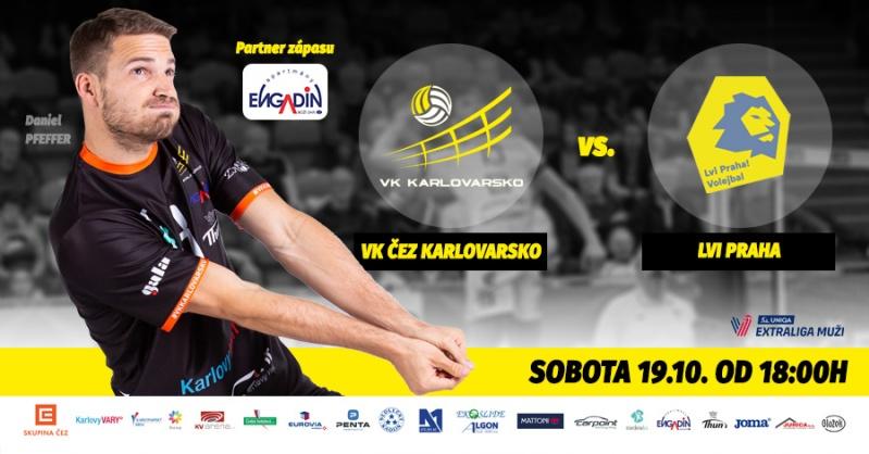 3. kolo: VK ČEZ Karlovarsko - Lvi Praha