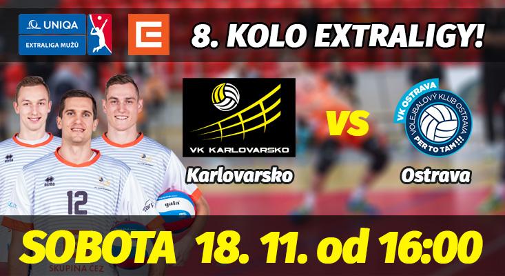8. kolo extraligy: VK ČEZ Karlovarsko - VK Ostrava